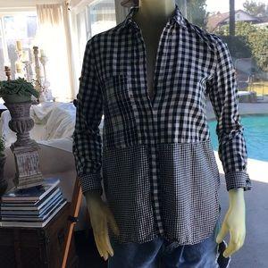 Zara flannel top